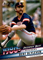 2020 Topps Series 2 BERT BLYLEVEN Decades' Best GOLD /50 Indians #DB-61