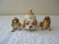 """Vintage Mixed Lot Of 3 Collectable Dogs Figurines,1,Homco # 1407,2,Others """" GREA"""