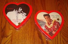 Elvis 2 Boxes of Valentine Candy in Heart-Shaped Box