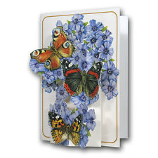 Pictoria Press 3D Pop Up Butterfly Flowers Greeting Card Any Occasion Birthday