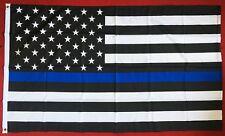 BLUE LIVES MATTER 5x3 feet FLAG 150cm x 90cm Thin blue line POLICE USA AMERICA
