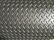 """1/8"""" Diamond Plate Poly Rubber Mat Flooring 10' long x 4' wide, 3.175 mm"""