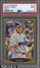 2013 Bowman Gold #136 Derek Jeter New York Yankees PSA 9 MINT