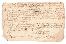 ANCIEN DOCUMENT daté 28 Janvier 1708 . XVIII ème  ST MICHEL DE GODEFROY TROYES