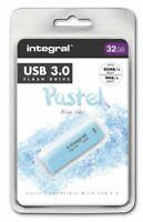 Integral 32GB Blue Sky Pastel USB 3.0 Flash Drive. INFD32GBPASBLS3.0