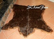"72"" x 60"" Brown Grizzly Bear Faux Fur Rug Taxidermy Lodge Cabin Furry Decor"