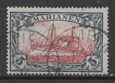 1901 German colonies Mariana Islands 5 Mark issue used, SAIPAN  $ 701.00