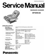 Panasonic EP3006  Massage Lounge Chair Service Manual Repair Guide