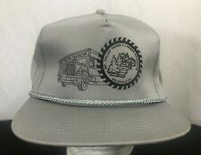 Vintage Mt Valley Farm & Lumber Products Snapback Trucker Hat Gray Never Worn