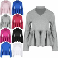 Unbranded Long Sleeve Tops & Shirts for Women with Ruffle