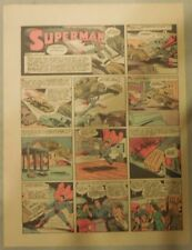 Superman Sunday Page #138 by Siegel & Shuster from 6/21/1942 Half Page:Year #3!