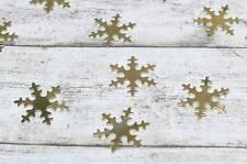 1000 Streuteile Sterne gold Metall Metallsterne Weihnachten Sterne Schneeflocke