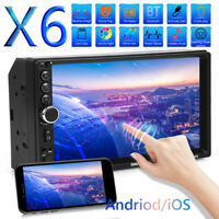 Double DIN Car Stereo MP5 Player 7in Display Bluetooth USB FM Radio AUX In-Dash