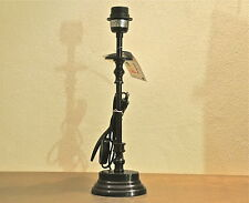Lampenfuss, Metall,Höhe 44 cm,schwarzbraun lackiert,ovaler Sockel, E27