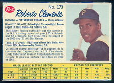 1962 POST CANADIAN baseball #173 Roberto bob Clemente EX Pittsburgh Pirates card