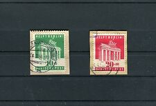 Briefausschnitte Mi.-Nr. 101+102 gestempelt Berlin-Hilfe - b3151