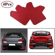 Universal 4Pcs/Set 11.5×15.1In Red Plastic Car Mudflaps Splash Mud Guard Fender