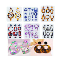 DIY Crystal Earring Epoxy Resin Mold Silicone Mould Fashion Jewelry Making Tools