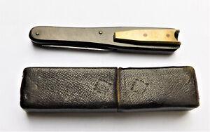 NO RESERVE Simpson Victorian Quill Cutter in Original Case Vintage Antique