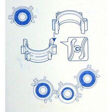 BROTHER Sewing Machine 10 x BOBBINS+BOBBIN CLIPS SET 11.5mm-Part No.BCL(Genuine)