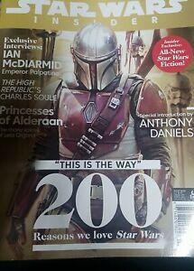 STAR WARS INSIDER MAGAZINE #200 (NM) NEW UNREAD - NEWSSTAND ED- THE MANDALORIAN