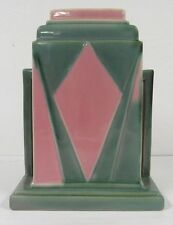 "Roseville Pottery 386-8"" Futura Juke Box Vase Art Deco Beautiful C651"