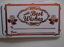 GREETING with best wishes CARDS 15 ct
