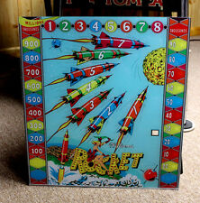 Williams 1959 ROCKET Outer Space Pinball Machine Replacement BACKGLASS