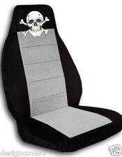 2 skull DESIGN CAR SEAT COVERS LOOK black-silver