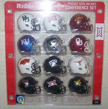 "2020 BIG 12 Conference NCAA Riddell Pocket Size Pro 2"" Replica Mini Helmet Set"