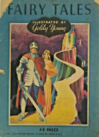 Fairy Tales 1934 Whitman Antique Paperback Book Goldy Young Illustrated Rare