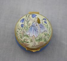 Crummles Bluebells Fairy Cicely Mary Barker Hinged Trinket Box Purple Blue