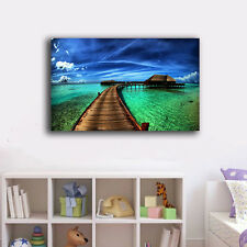 30×50×3cm Beach Side Holiday Canvas Print Framed Wall Art Home Decor Painting
