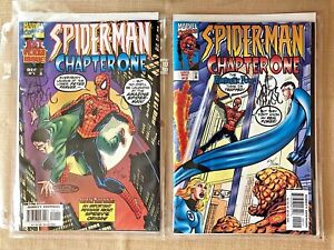Spiderman Chapter One #1 and #2 Signed John Byrne 475/1500 Dynamic Forces 1998