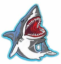 Shark iron on/sew on Embroidered Patch Applique DIY (US Seller)