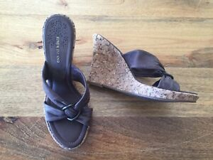 River Island Wedges Mules 6 Brand New Heel Open Toe Strappy Cruise Holiday