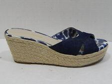 Arturo Chiang Ladies Shoes Wedge Espadrilles Denim Blue Lizanna SIZE 8