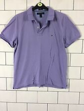 TOMMY HILFIGER VINTAGE RETRO SHORT SLEEVE BOLD POLO TOP T SHIRT MENS LARGE #43