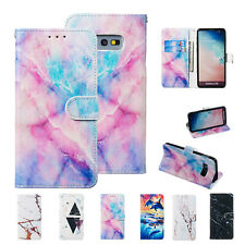 For Samsung Galaxy S10 Plus/S9/S8/Note 9 Pattern Leather Flip Wallet Case Cover