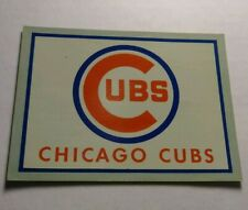 Rare Chicago Cubs Baseball Vintage LOGO RETIRED Window Travel Decal Sticker ORIG