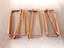 3 x51mm Copper finish metal slide grip bar buckle corset  bag strap craft