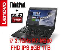 NEW ThinkPad E460 i7 FHD IPS Radeon R7 M360 8GB 1TB AC 3Y OS+TPP Warranty E470