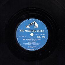 Reino Unido #22 Alma Cogan 78 por qué los tontos se enamoran/pájaros y las abejas HMV Pop 223 E -