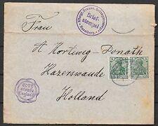German Reich covers 1915 InternmentCamp HAVELBERG cover Gott strafe England