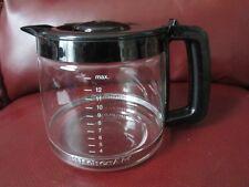 KitchenAid Pro 12 Cup Carafe Coffee Pot w Lid Model KCM400OB1 EUC