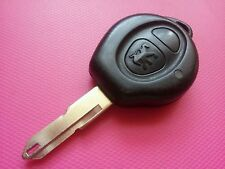 GENUINE PEUGEOT 206 ETC 2 BUTTON REMOTE KEY FOB - FULLY WORKING - UNCUT BLADE