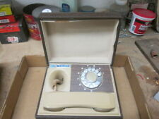 Central System Wood Box Rotary Phone Telephone - untested