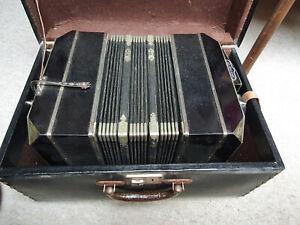 "Nice old Bandoneon Bandonion Accordion "" ALFRED ARNOLD AA 14.12. 1936"" 35/29"