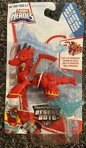 Transformers Rescue Bots Drake The Dragon Bot Playskool Heroes Mini Figure RARE
