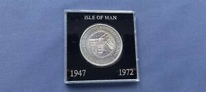 ISLE OF MAN 1972 SILVER WEDDING CROWN, BRILLIANT UNCIRCULATED - BOXED